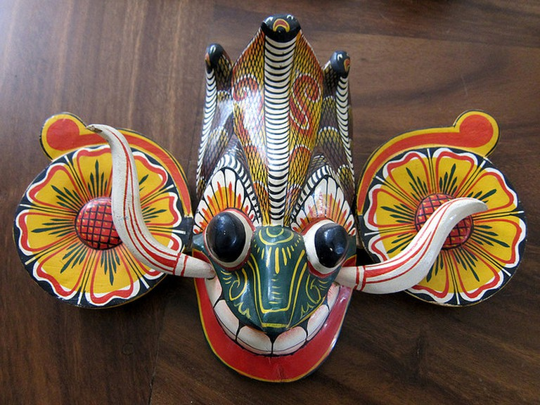 Traditional Sri Lankan demon mask