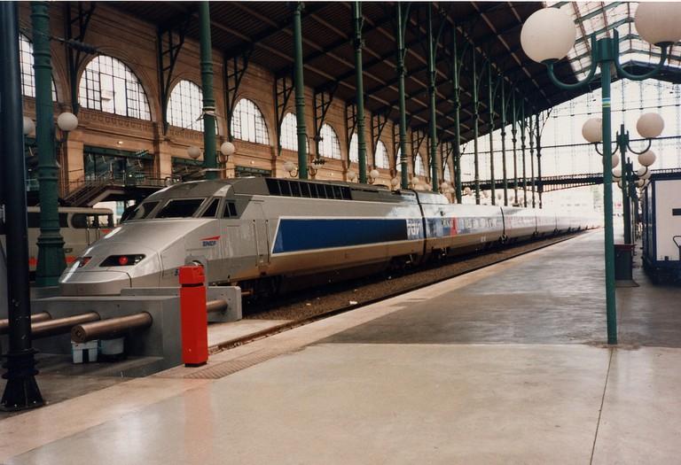 TGV in Lyon-Perrache Railway Station