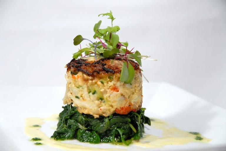 Zucchini Crabcake | Courtesy of Caffe Alberto Lamberti/Karl Vela