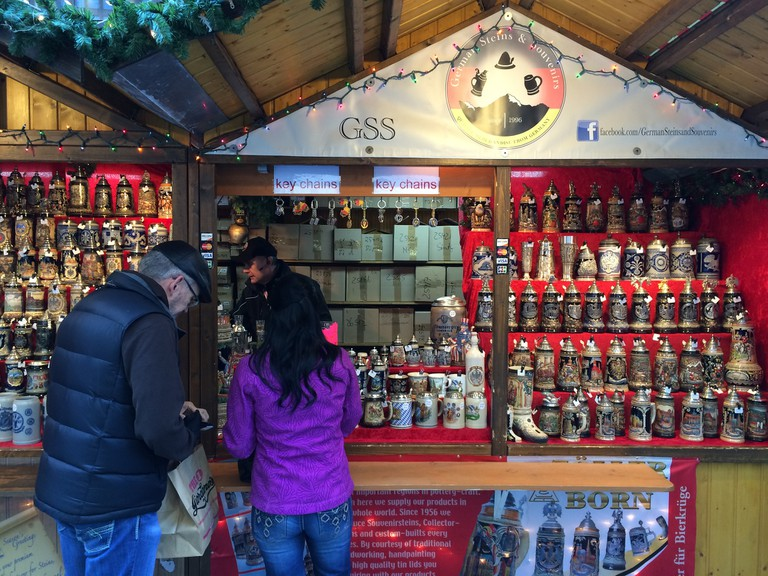 Front of German Steins and Souvenirs | © Benita Gingerella