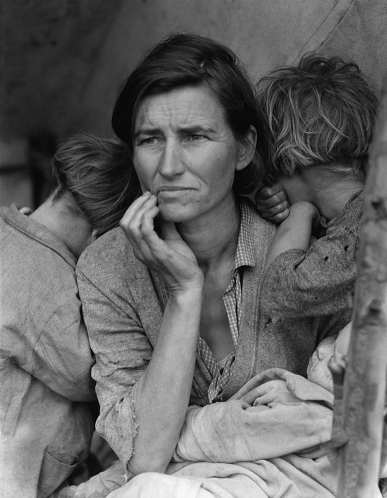 Migrant Mother by Dorthea Lange| © Dorthea Lange/WikiCommons