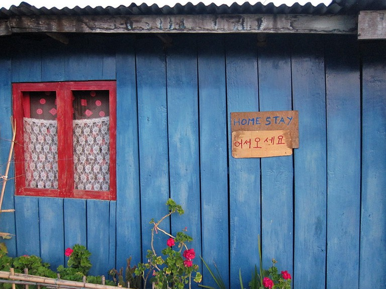 A Homestay sign in Khecheopalri Lake Sikkim ©fabulousfabs/flickr