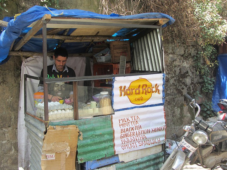 A local food stall at Mcleodganj