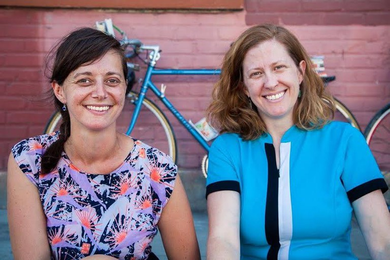 From left to right, F.L.O.W. founders Jenn Witte and Dawn Finley