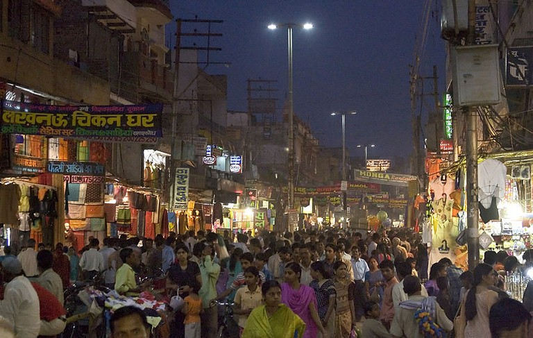 Lucknow local shopping market