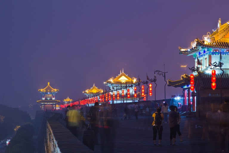 Xian City Walls at Night ©Colin Capelle/Flickr