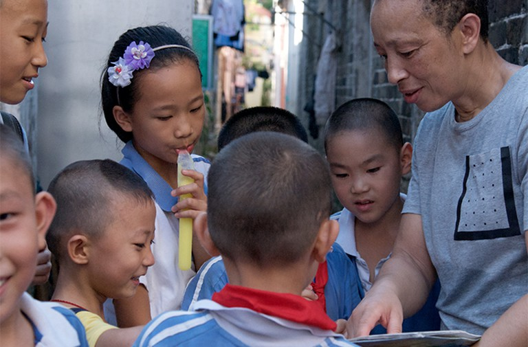 Teaching kids English and Boxing from rural area in China, Michele Aboro, Yilan Yuen