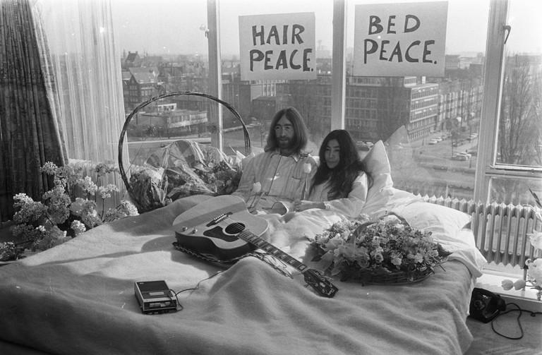 John Lennon & Yoko Ono's Amsterdam Bed-In