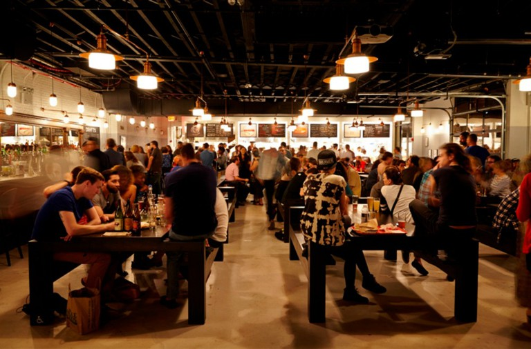 Beer and Food Hall Action at Berg'n