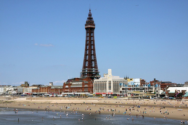 Blackpool Tower viewed from the Central Pier