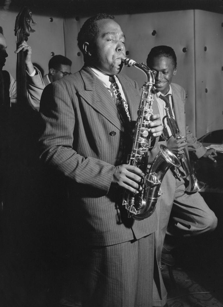 Charlie 'Bird' Parker, The Three Deuces, New York City, 1947, Photo by William P. Gottlieb/WikiCommons
