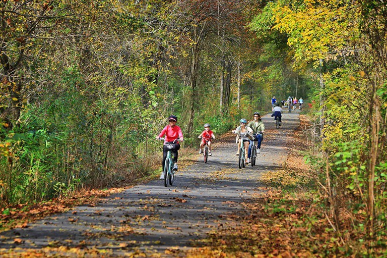 Greenville Swamp Rabbit Cycle Trail | Courtesy VisitGreenvilleSC.com