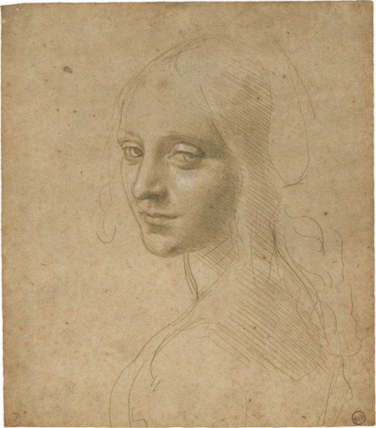 Leonardo da Vinci, Head of a Young Woman, after 1483