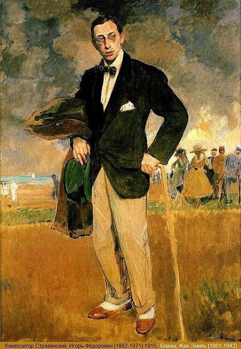 Igor Stravinsky. Portrait by Jacques- Émile Blanche. 1915 | © Tatiana Matlina/Wikicommons