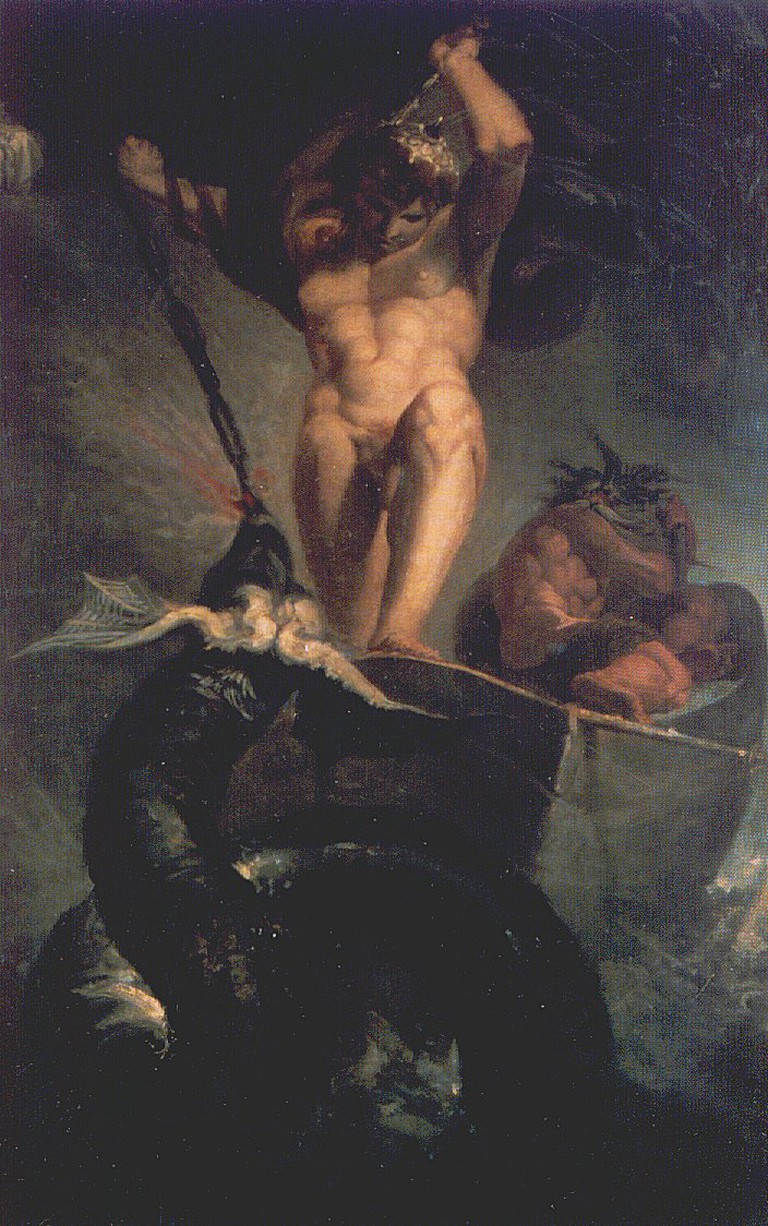 Thor battering the Midgarð Serpent, Henry Fuseli