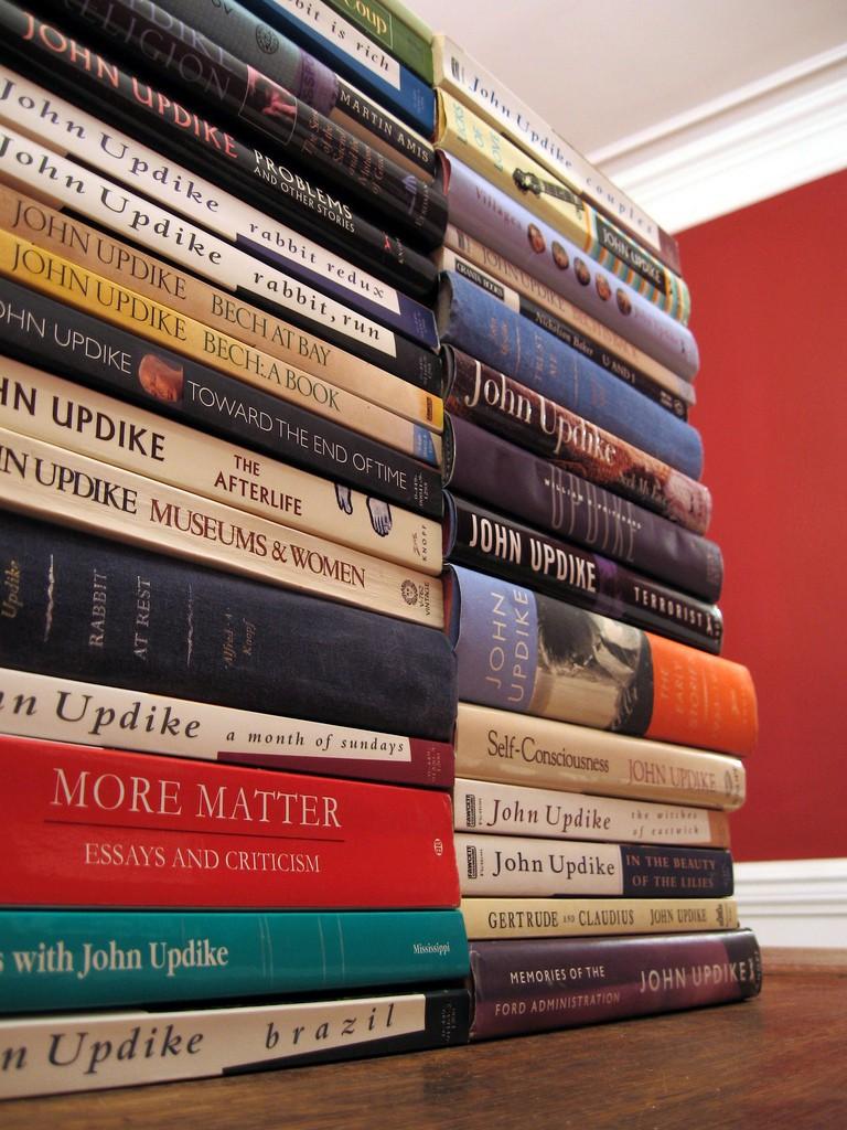 John Updike works | © Michelle Kinsey Bruns/Flickr