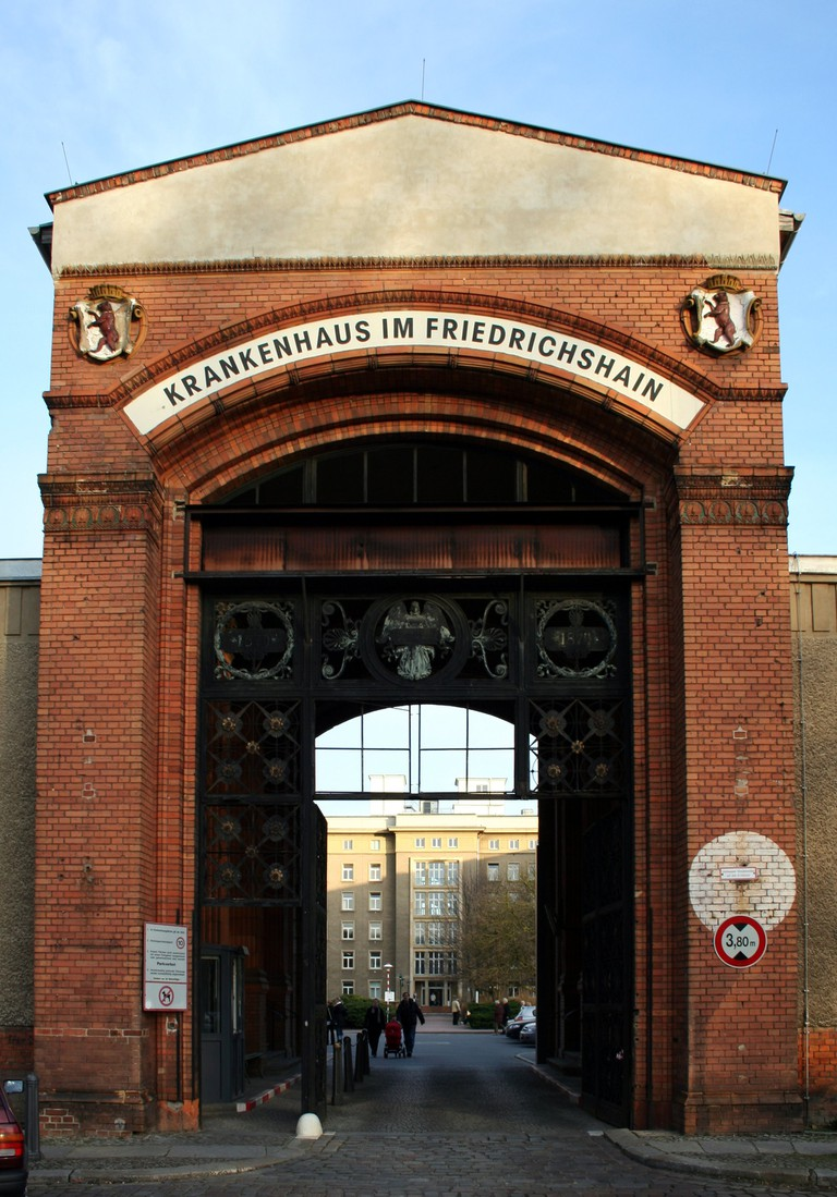 Gate to the hospital built around 1870