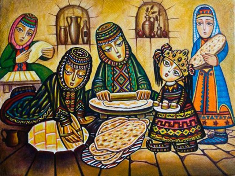 Lavash baking | Courtesy Araratour.com