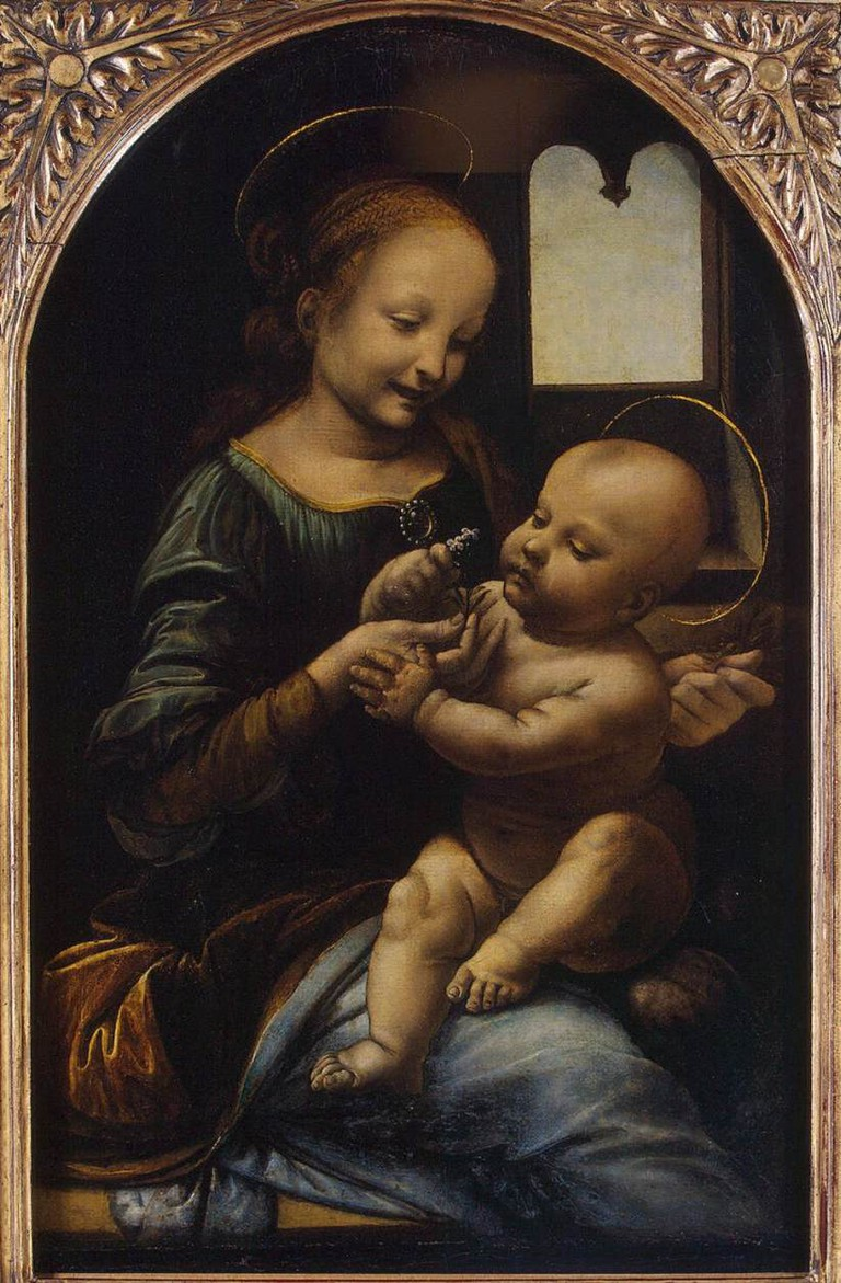 Leonardo da Vinci, Benois Madonna, circa 1478 | © Leonardo da Vinci/WikiCommons