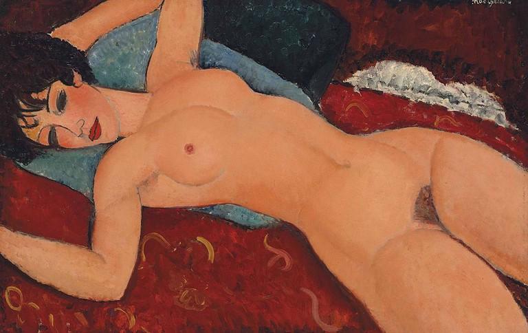 Amedeo Modigliani, Nu couché, 1912-13 | © Amedeo Modigliani/WikiCommons