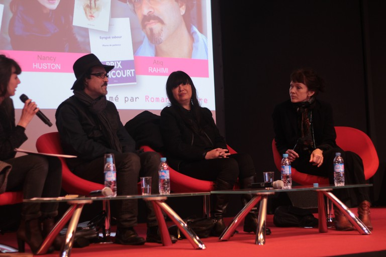 Nancy Huston (far right) at Salon du Livre Paris, 2015