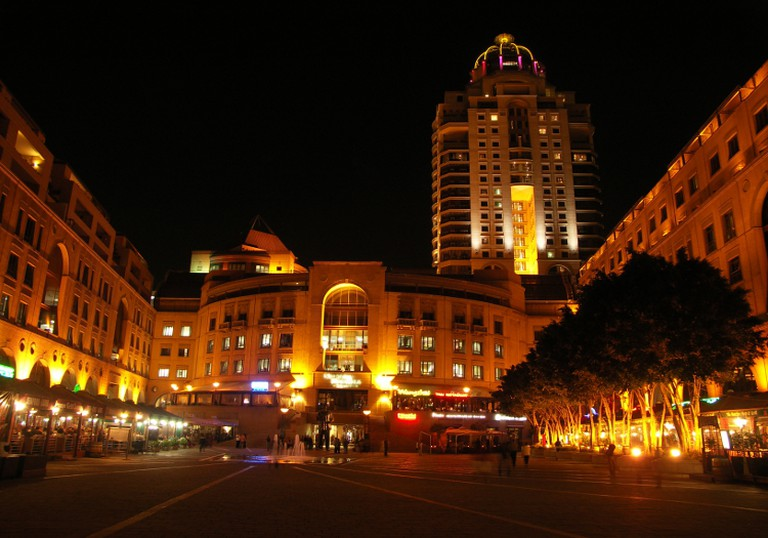 Michelangelo Towers Hotel view from Nelson Mandela Square