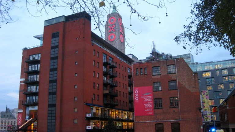 View Towards Oxo Tower Wharf From Gardens At Dusk