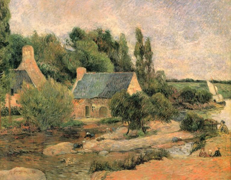 Pont-Aven in Les Lavandiers by Paul Gauguin