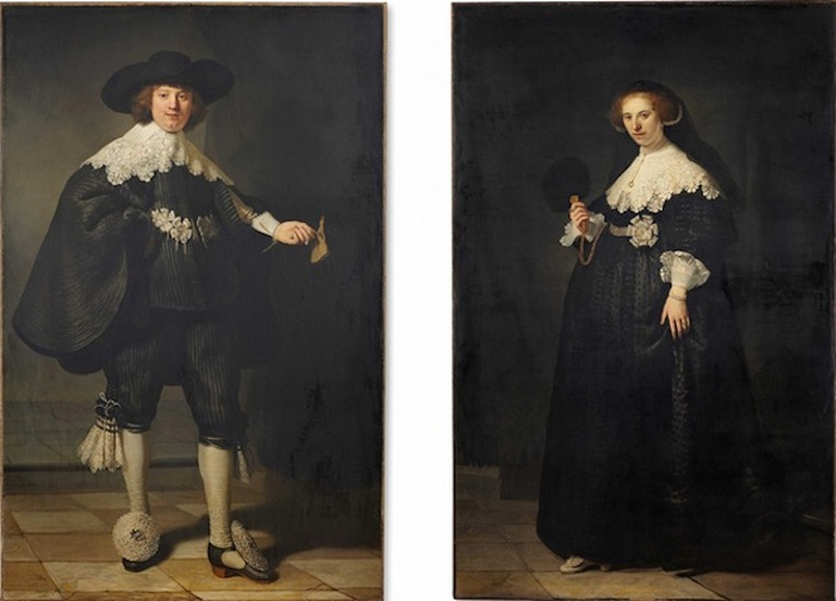 Rembrandt, Portrait of Marten Soolmans and Portrait of Oopjen Coppit, 1634 | © Rembrandt/WikiCommons