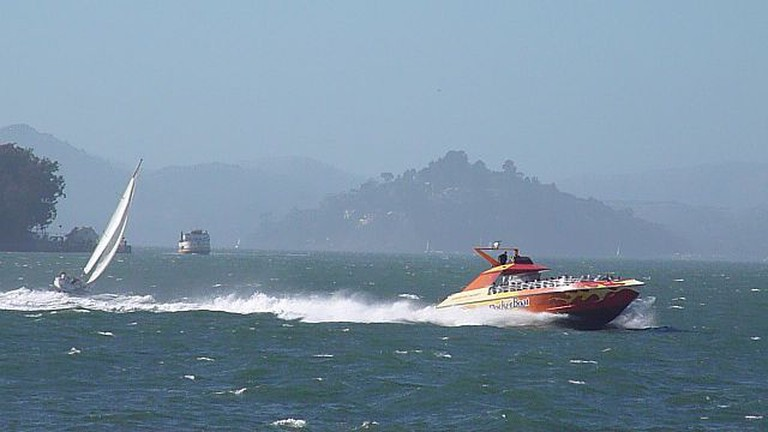 RocketBoat speeding on SF Bay