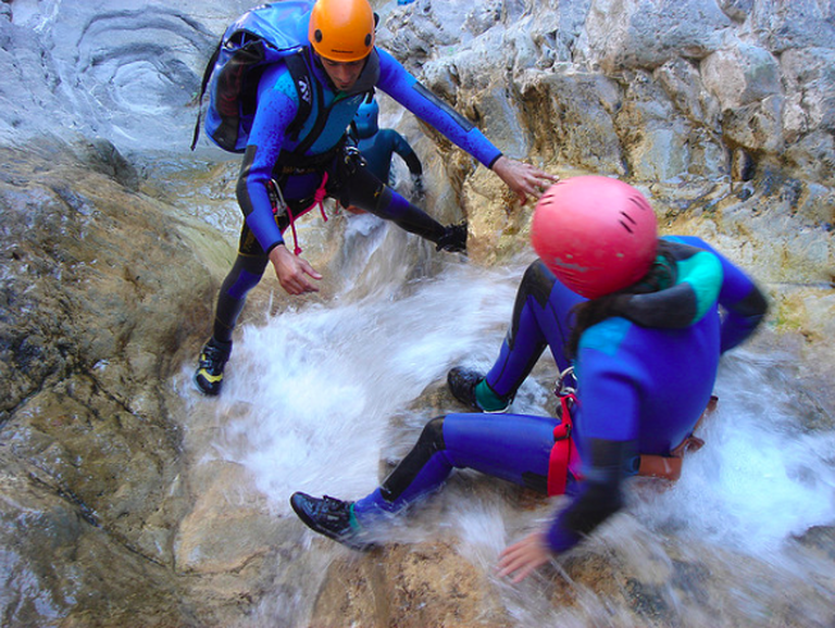 Canyoning Barberra|©Cyril Bèle