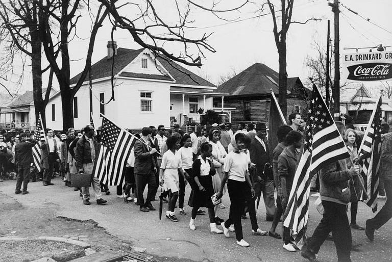Participants in the Selma to Montgomery marches | © Peter Petus- Library of Congress/ Wikimedia Commons