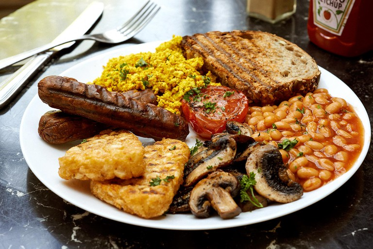 Vegan full English at The Gallery Cafe | Courtesy of Amanda Stockley