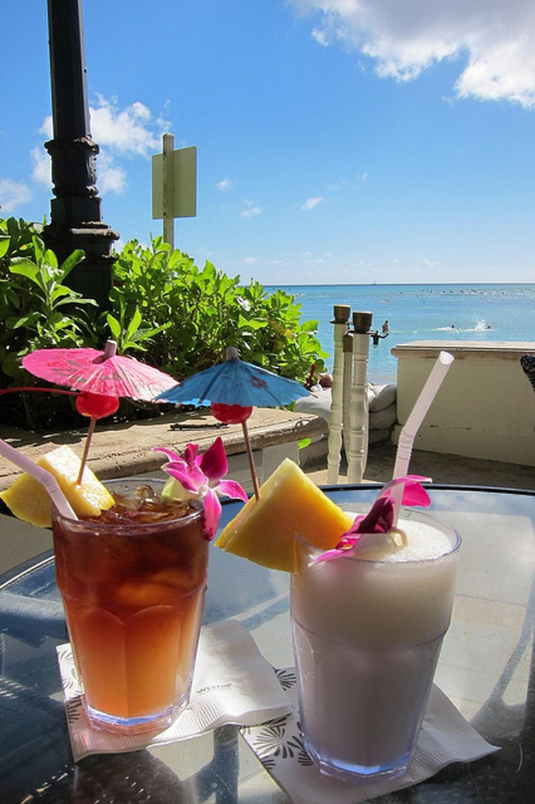 Mai Tais at Beach Bar