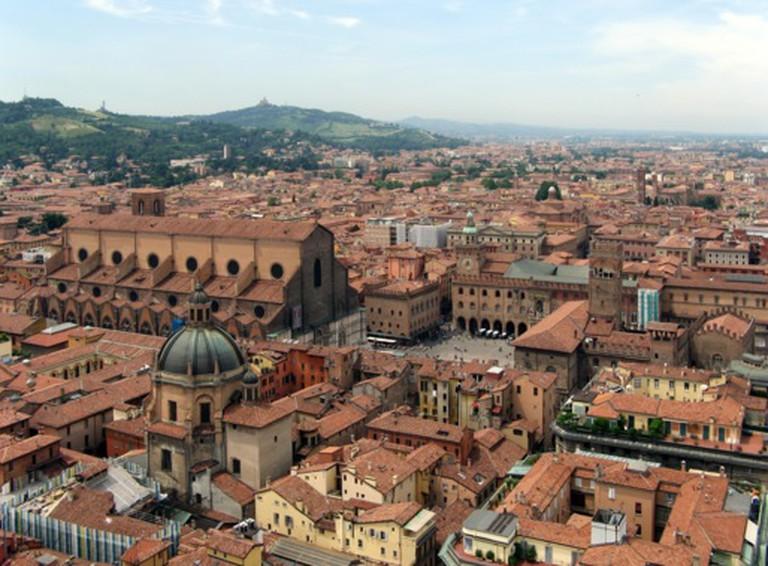 Panorama del centro di Bologna | © Szs/WikiCommons