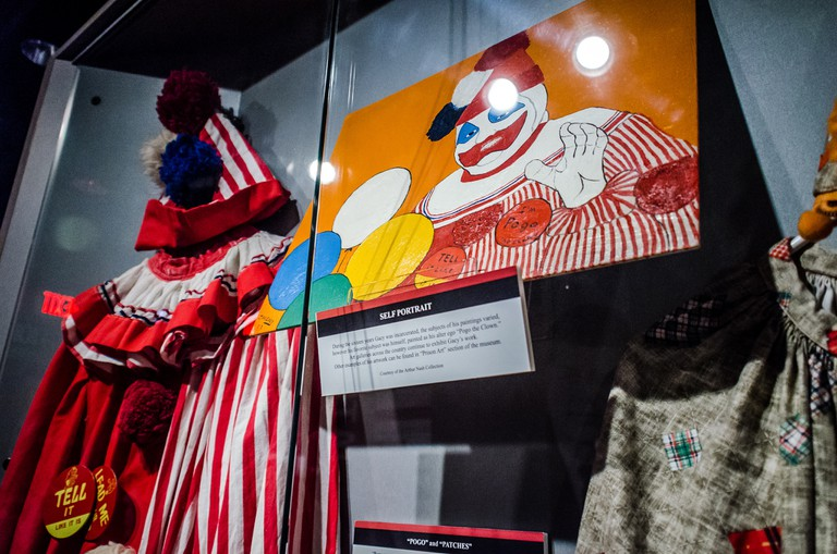 John Wayn Gacy exhibition at the National Crime Museum