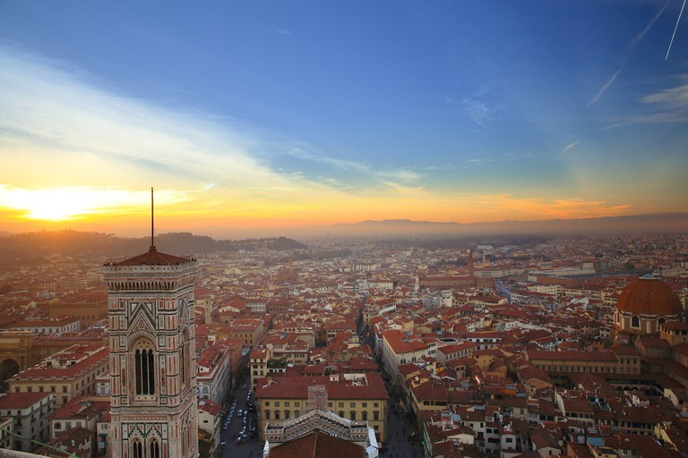 Florence Italy at sunset © Pixabay
