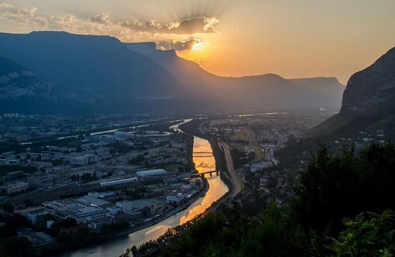 Sunset over Grenoble