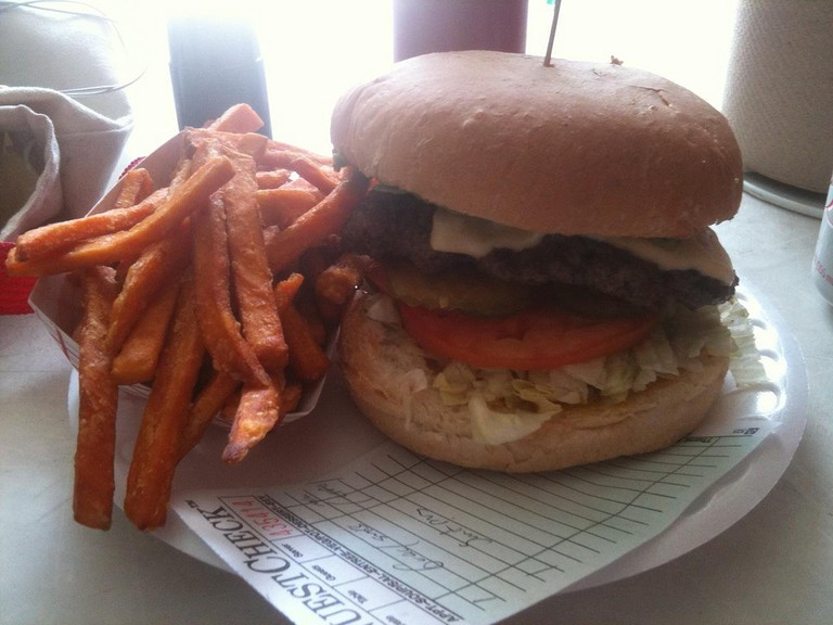 Guacamole and Swiss Burger at Hubcap Grill