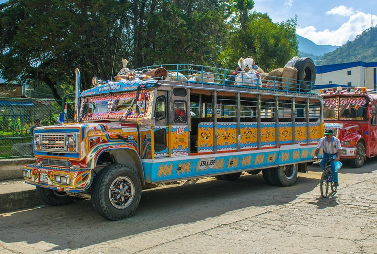 Colorful chiva bus