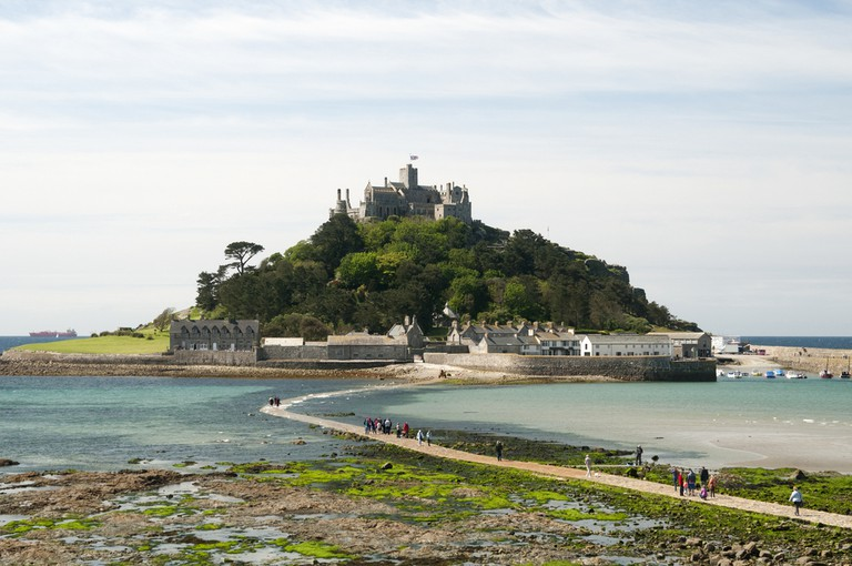 St. Michaels Mount Island and Castle at low tide
