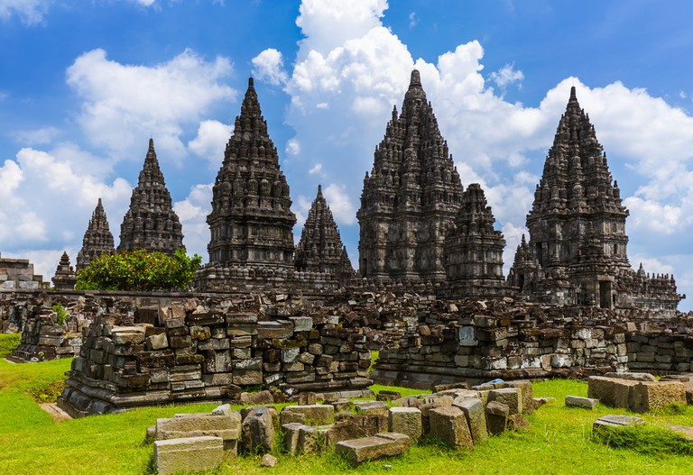 Prambanan temple near Yogyakarta on Java island Indonesia