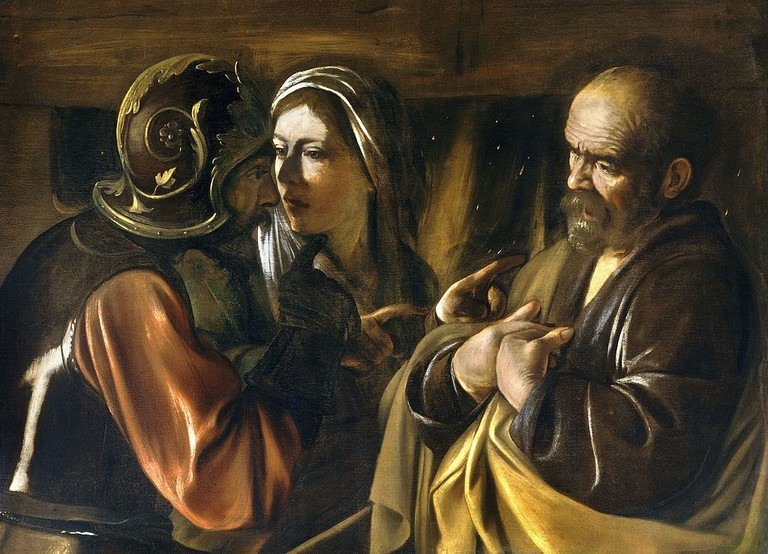 Caravaggio, The Denial of Saint Peter, c1610