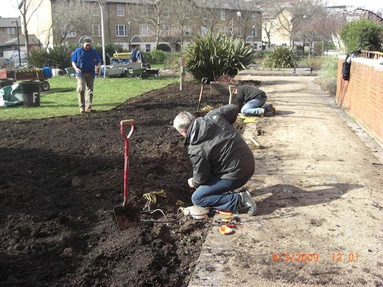 Workers Tending Bernie Spain Gardens | Courtesy of Coin Street Community Builders