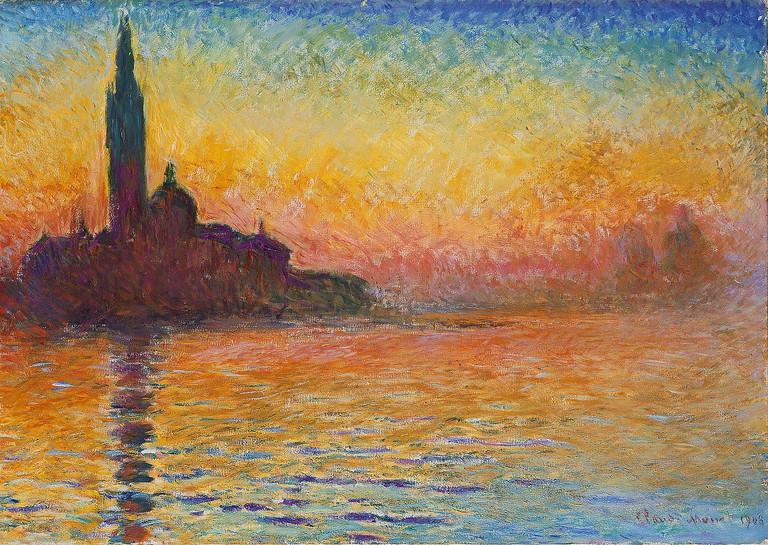 Saint Giorgio Maggiore at dusk | Claude Monet - Beyeler Foundation/WikimediaCommons