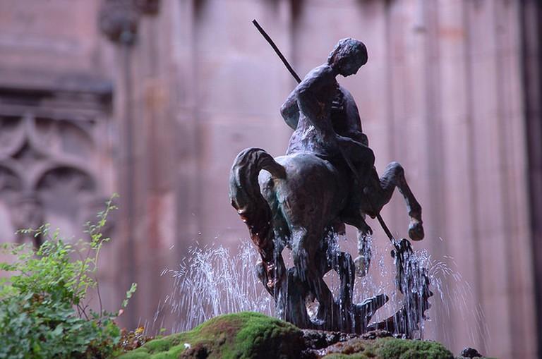 Saint Michael slaying the dragon | © Gautier Poupeau / Flickr