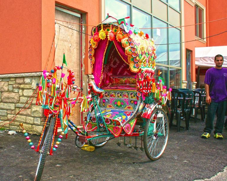Colourful mode of transportation, Toronto's, Little India Village