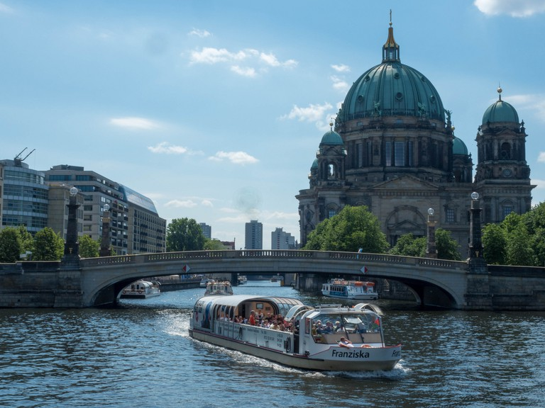 Berlin Museum Island, River Spree, Boat