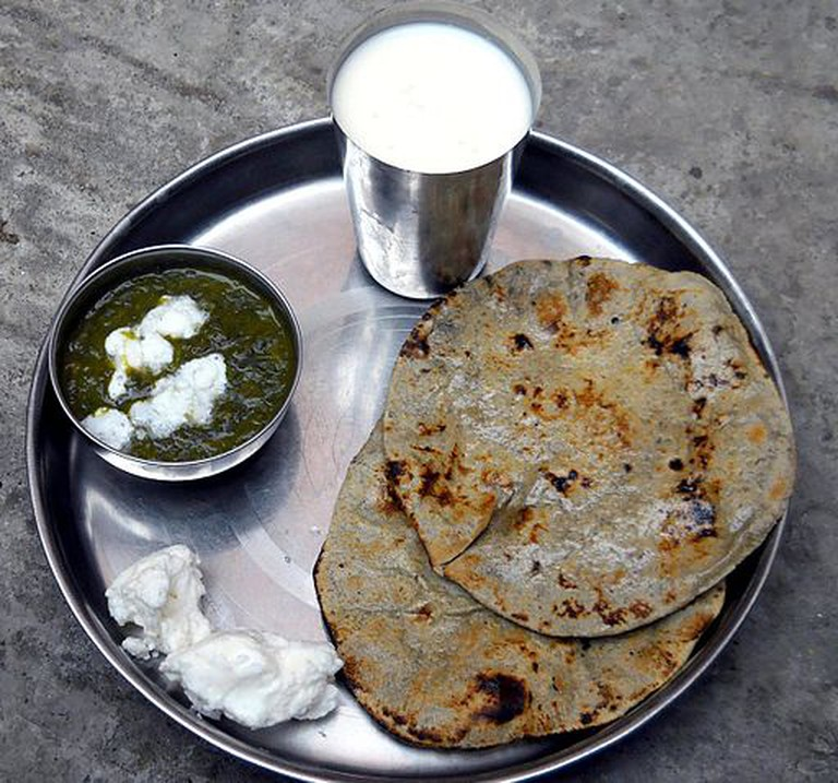 The bajra roti (flatbread) © Kumer Pal/Wikicommons