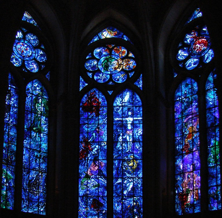 Chagall's Vitrail in Reims (1974)